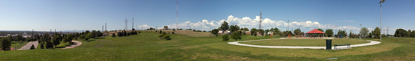 Panoramic photo of Ruby Hill Park, Copyright Jay Dokken