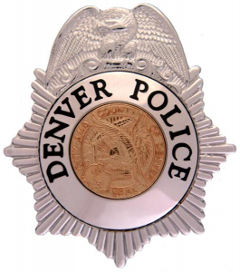A Denver Police badge