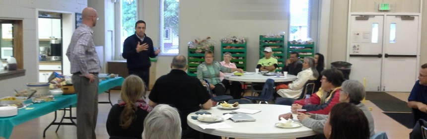Photo of a Ruby Hill-Godsman Neighborhood Association meeting