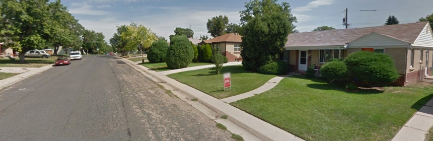 Google streetview of a house for sale in the Ruby Hill-Godsman Neighborhood