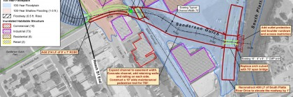 Map of proposed improvements along Sanderson Gulch in the Ruby Hill Neighborhood