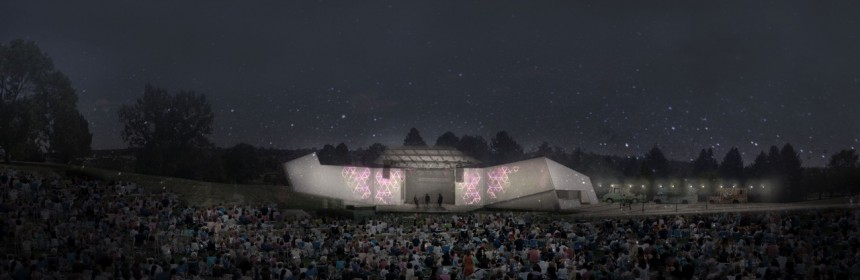 Rendering of the Levitt Pavilion stage at Ruby Hill Park provided by Chris Zacher