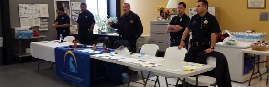 Photo of District 4 police officers at a community event