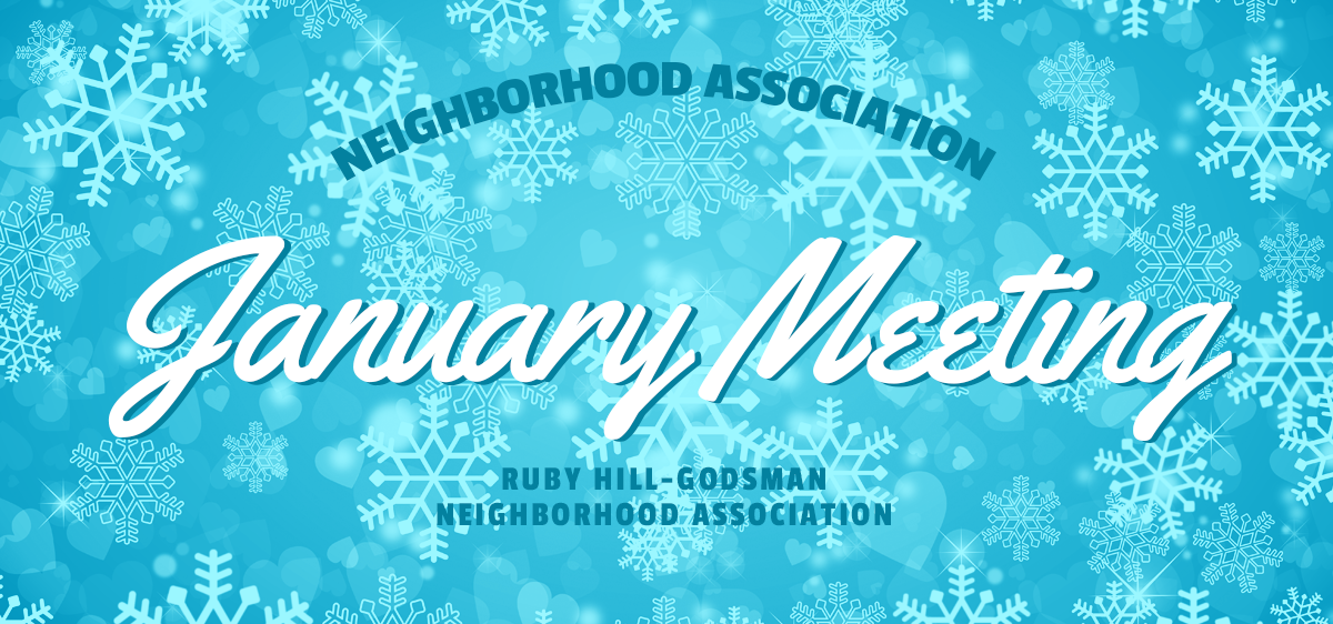 Meeting announcement for January