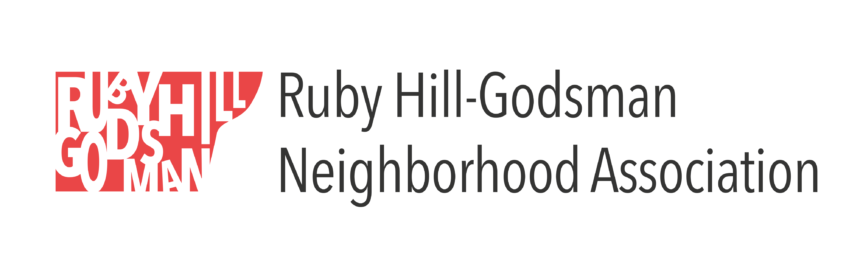 The Ruby Hill-Godsman Neighborhood Association logo